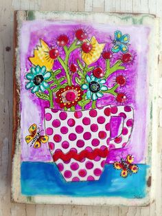 Happy Flowers Modern Folk Purple Springtime