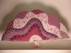 hand painted spanish fan, abanico pintado a mano