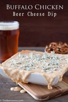 Buffalo Chicken Beer Cheese dip | +20 Recipes That Won Pinterest In 2013