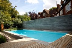 Lovely small infinity edge pool