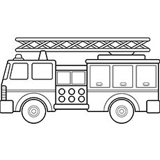 Fire Truck Coloring Pages For Toddlers Coloring Rocks Coloring