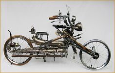 Motorcycle made from a saxophone.