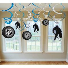 Check out NHL Hockey Hanging Swirl Decorations - Party Decorations & Supplies from Birthday In A Box