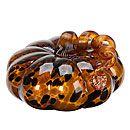 Glisten Leopard Glass Pumpkin