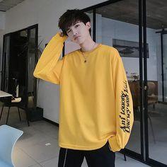 Autumn New Hoodies Men Fashion Printed Casual Cotton Sweatshirt Man Streetwear Hip Hop Loose Long Sleeve Pullover Male Stylish Mens Outfits, Sora, New People, Korean Outfits, Mens Sweatshirts, Fashion Prints, Aesthetic Clothes, Men Fashion, Hip Hop