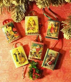 Christmas matchbox ornaments