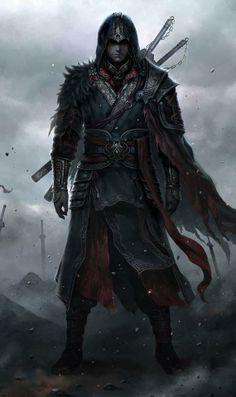 Assassins Creed fan art illustration painted by digital artist Chao Yuan Xu