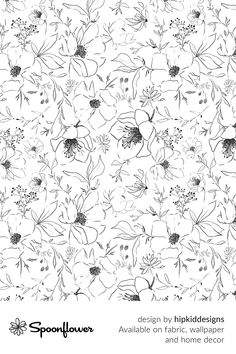 Customize your own home decor, #wallpaper and #fabric at Spoonflower. Shop your favorite indie designs on #fabric, #wallpaper and home decor products on Spoonflower, all printed with #eco-friendly inks and handmade in the United States. #patterndesign #textildesign #pattern #digitalprinting #homedecor Fabric Wallpaper, Floral Designs, All Print, Watercolor Flowers, Creative Business, Custom Fabric, Spoonflower, Diy Wedding, Pattern Design