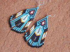 Southwestern Native American Beaded Feather Fridge by LJGreywolf, $60.00