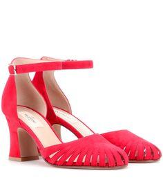 Rote Pumps aus Veloursleder By Valentino