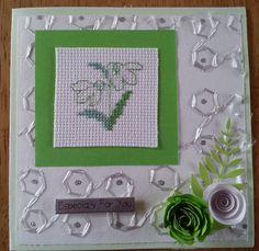 especially for you, cross stitched card.