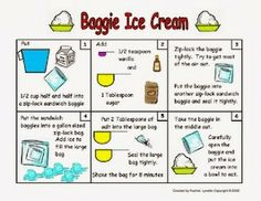 Classroom Freebies: Baggie Ice Cream Science