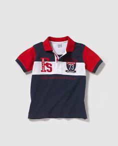 Polo de niño Boys Summer Outfits, Summer Boy, Toddler Boy Outfits, Toddler Boys, Sport T Shirt, Polo Shirt, Men Design, Design Ideas, Moda Online