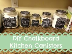 Love the jars and the Chalkboard feature so that you can change it up. Want these for my kitchen!