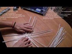 Как закрепить крышку на коробке, загибка розга, японский мотив в плетении из бумаги   oblacco