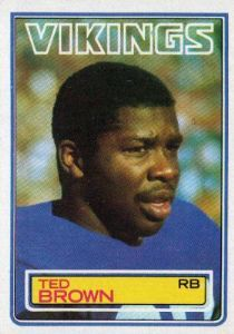 #53 Ted Brown  #99 TOPPS NFL 1983 CareerJim Nance, Gerry Ellis, Clarence Davis, Hewritt Dixon, George Rogers, Antowain Smith, Les Josephson, Mercury Morris