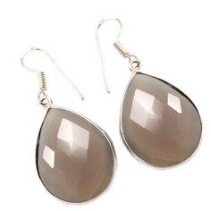 Silvestoo India Chalcedony Gemstone 925 Sterling Silver Earring PG-100765   https://www.amazon.co.uk/dp/B06XWYFD59