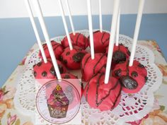 Lady bug themed cake pops @ https://www.facebook.com/pages/Little-Krush-Cupcakes-NZ/485728288124195