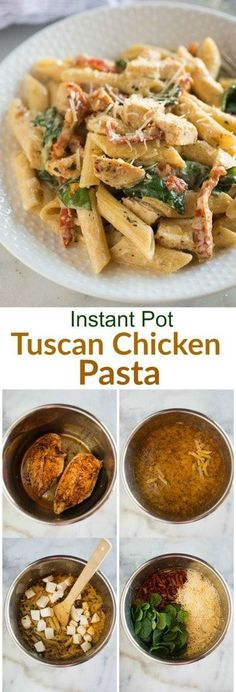 Instant Pot Tuscan Chicken Pasta | Posted By: DebbieNet.com