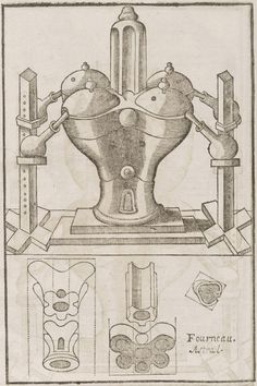 Illustrations of alchemical processes by Annibal Barlet, published in 1657, via the Beinecke Rare Book and Manuscript Library