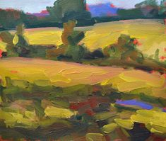 Isabelle  Abbot - Fields in EArly Autumn
