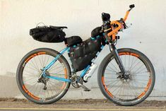 The bike bags, fully packed