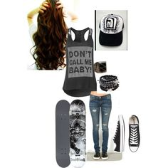"""Skater Girl"" by tracingroses on Polyvore"