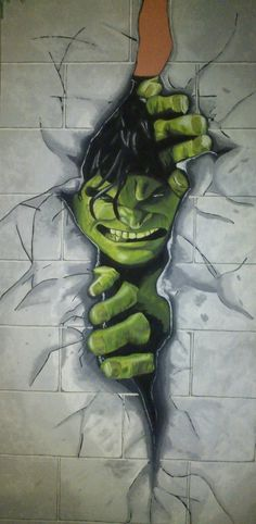 Hulk wall mural for superhero fans!