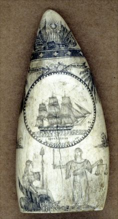 Spencer  Pratt. Scrimshaw Artist and sailor on a whaling vessel. c. 183. Pratt lived in Bristol, RI. USA.