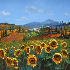 Italian landscape with sunflowers: point_of_no_23