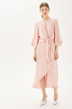 Jacquard Knot Front Midi Dress - New In Fashion - New In - Topshop High Street Dresses, Satin Midi Dress, Midi Dresses, Best Summer Dresses, Weekend Style, Occasion Dresses, New Dress, Party Dress, Womens Fashion