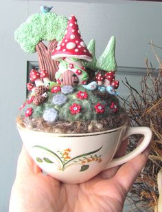 Sale 28.00 was 35.00 / Fairy Gnome House Garden in by FreckledFig