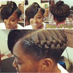 Ridges With A Goddess Braid - Interesting Style Shared By Tomeka - http://www.blackhairinformation.com/community/hairstyle-gallery/weaves-extensions/ridges-goddess-braid-interesting-style-shared-tomeka/ #weaves #goddessbraid