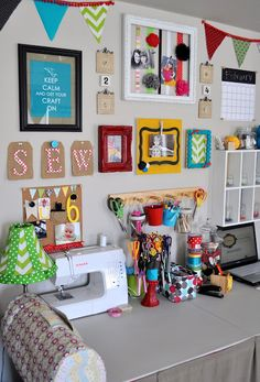 DIY Craft Nook #craftrooms #home #organization (just thought this was too cute and reminded me of your craft nook!)