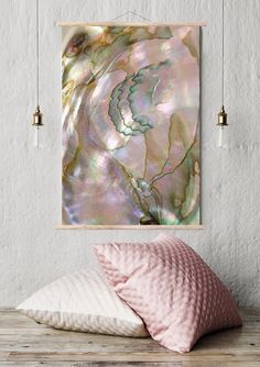 Mineral Photography - (Print #065)  Abalone -  Fine Art Print - Two Paper Choices- Mineral Geode Agate Crystal Decor