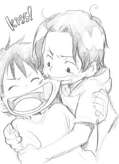 Portgas D. Ace and Monkey D. Luffy