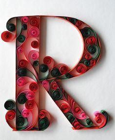 Quilling Letters, Paper Quilling Patterns, Origami And Quilling, Quilled Paper Art, Origami Paper Art, Quilling Paper Craft, Quilling Designs, Paper Crafts, H Alphabet