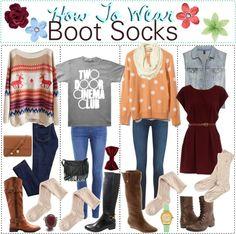 """How to Wear: Boots Socks"" by h0w-t0-we4r ❤ liked on Polyvore"