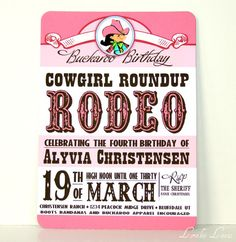 Invitation Rhinstone Cowgirl Collection by Loralee Lewis