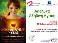 Κινηματογραφική Λέσχη Πεύκης: 14-2-2018: «Απόλυτα αληθινή αγάπη» (Jørgen + Anne ... Movies, Movie Posters, Films, Film Poster, Cinema, Movie, Film, Movie Quotes, Movie Theater