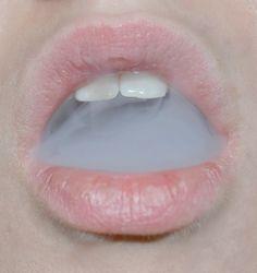 Pink lips and smoke