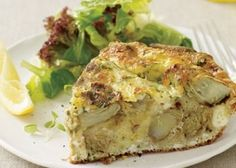 St. Joseph's Day table meatless recipes: Artichoke or asparagus frittata - Buffalo Cooking   Examiner.com