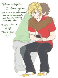 Enjolras and Grantaire Why do I want to record this as my voicemail greeting?
