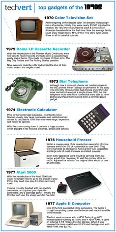 gadgets would include Atari and a apple computer n Vintage Advertisements, Vintage Ads, Vintage Posters, Best Memories, Childhood Memories, Color Television, City Roller, 1970s Childhood, Top Gadgets