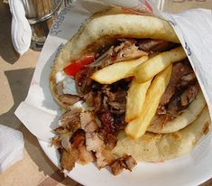 Souvlaki (NOT with lamb, but with pork) ... best food in the world :D