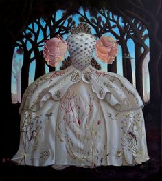 "Maryrose Crook ~ ""Relics from the Daughters of the Desert"" oil on canvas Paper Dress Art, Paper Dresses, Detailed Paintings, Pop Surrealism, Collage Ideas, Art Ideas, Art Boards, Paper Dolls, New Art"