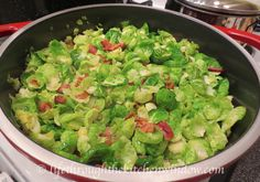 Brussels sprouts get deconstructed and taste better than ever! A little up-front work is rewarded with almost effortless cooking, great flavour and a bold new look. Sauteed Swiss Chard, Urban Cottage, Plant Based Eating, Lettuce, Guacamole, Side Dishes, Bacon, Brussels Sprouts, Vegetables