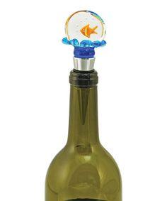 Fishbowl Wine Stopper #zulily #zulilyfinds