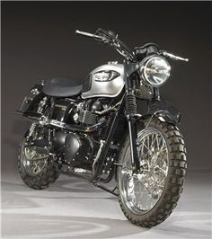 Triumph Bonneville ridden by Tom Cruise in Mission Impossible III. Made in 2005, it was effectively a prototype for the Scrambler that Triumph launched in 2006.