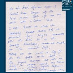Morgan Pillai, Under 19 South Africa, was impressed with our hospitable services.